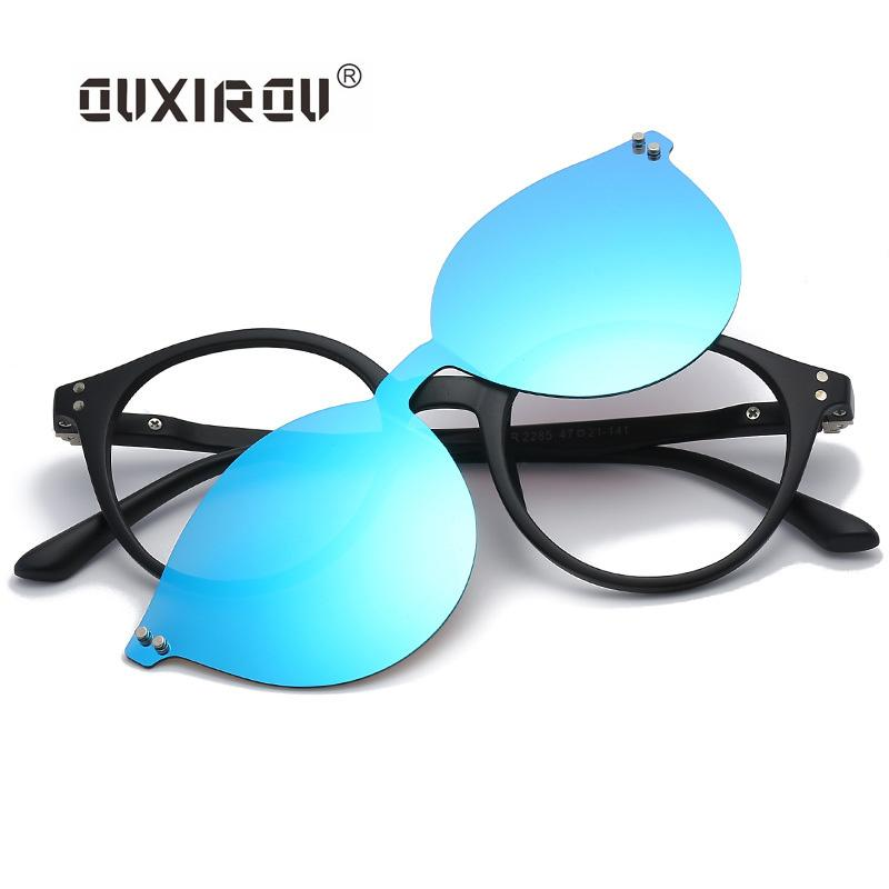 094e09c3bf 2019 Fashion Eyeglasses Frames Men Women Sunglasses Polarized Magnetic  Glasses Male Driving Clip On Spectacle Tr90 Myopia S2283 From Shuidianba