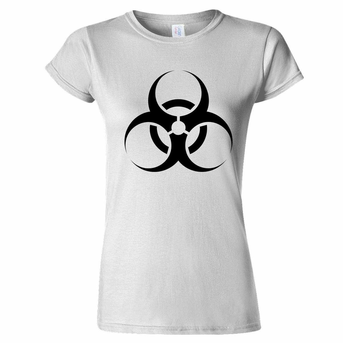 T Shirt Shop Short Women Biohazard Symbol Chemical Waste Toxic Waste