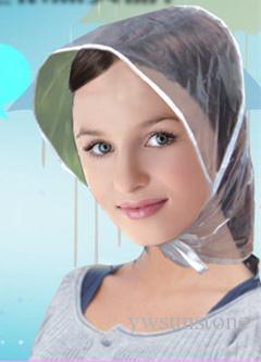 2018 neue transparente Farbe winddicht Regenhut klar Kunststoff Regenhauben Korea Japan Taiwan beliebten Schutz Frisur Kappe