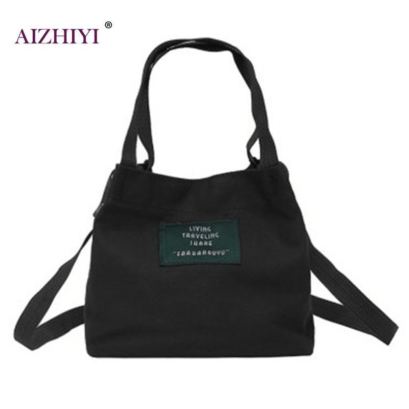 4f1805593e26 Lady Canvas Handbag Mini Single Shoulder Bag Crossbody Messenger Bag Women  Swagger Female Shopping Bags Bucket Pack 2017