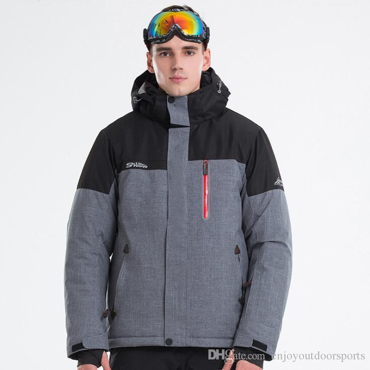 43a47fdbc4d2 2019 2018 New Men Ski Jackets Brands Outdoor Warm Snowboard Jacket Coat  Male Waterproof Skiing Snow Jacket Man Sportswear Hooded Winter Clothes  From ...
