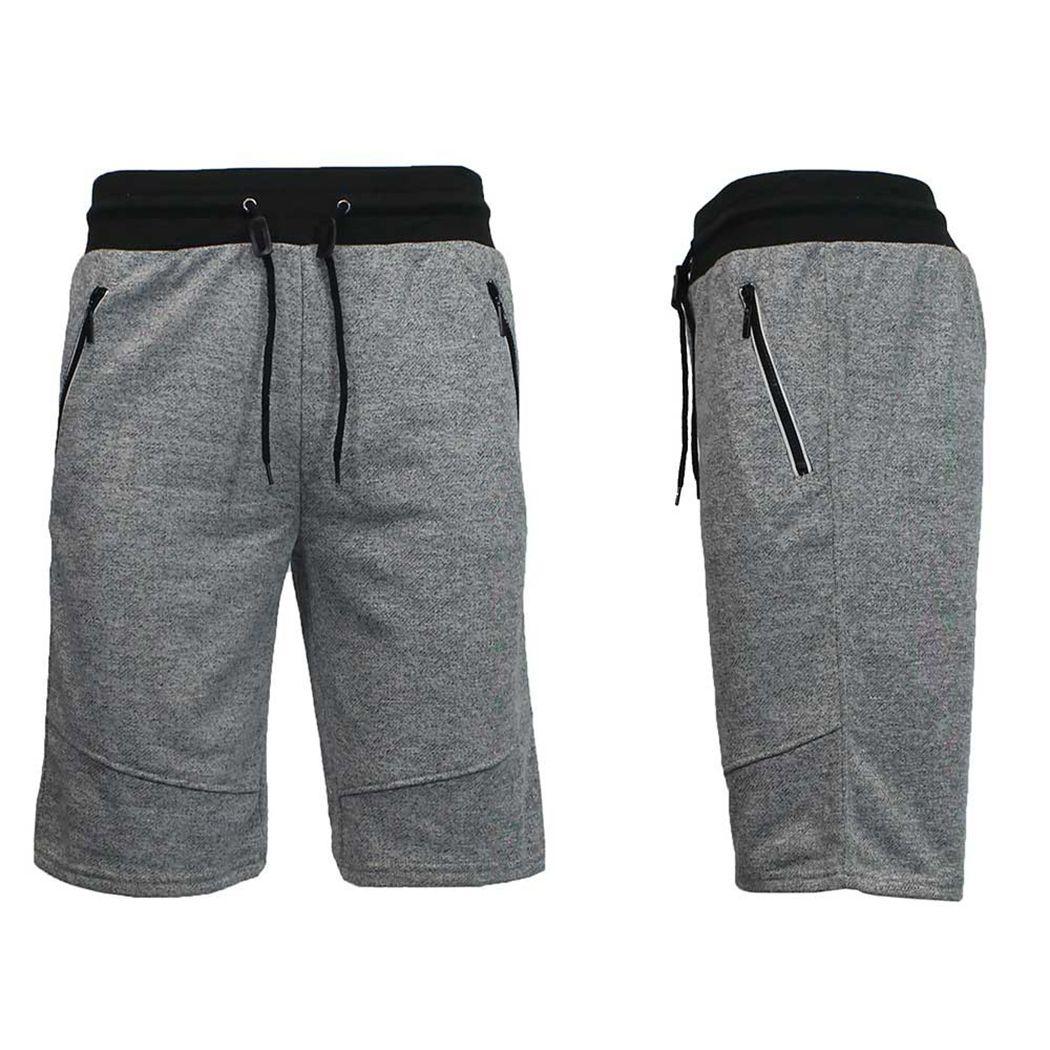 Alta Sweatpants Bolsillos Cargo Cintura 2018 Cremallera Para Casual Cordones Shorts Con Workout Hombre De Homme Algodón Fitness PZOkXui