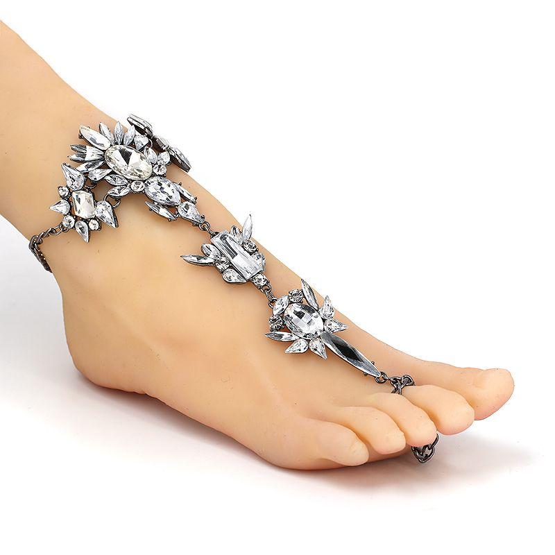 최고의 숙녀 원피스 긴 여름 방학 Anklets 팔찌 샌들 섹시한 다리 체인 여성 Crystal Anklet Statement Jewelry