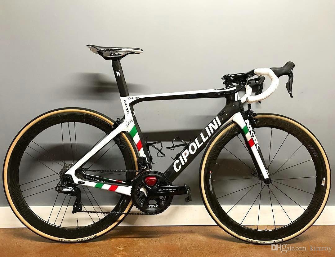 World champion cipollini nk1k carbon road complete bike with 5800 or r8000 groupset custom unique name national flag stickers tandem bikes tandem bike from