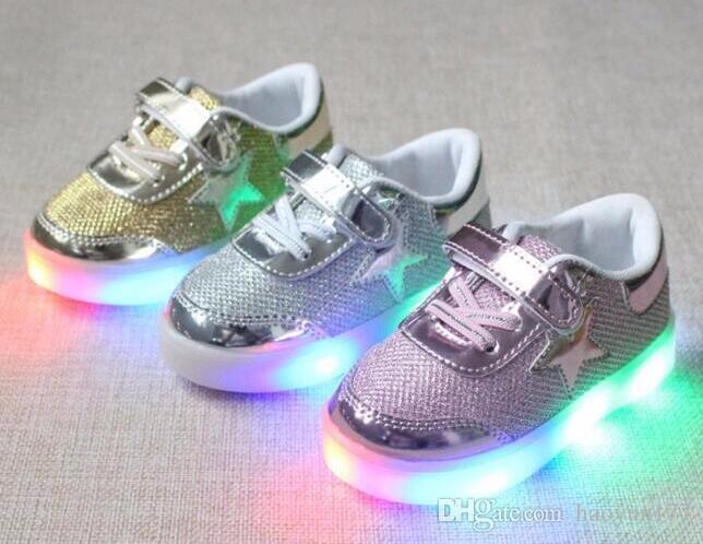 f278e4750c18b Acheter Chaussure Enfant Chaussures Enfant Printemps Automne Nouveau  Reniflard Chaussures Enfants Avec Lumière Bébé Garçons Led Lumière Sport  Chaussures ...