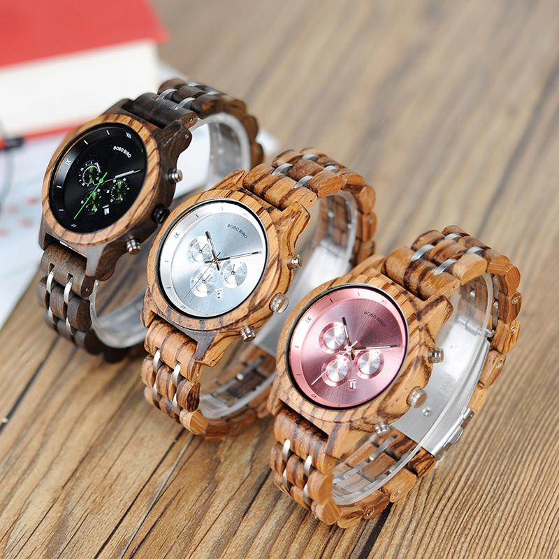 9c060042bd3 Watch For BOBO BIRD Women Luxury Wood Watches Functional Stop Watch Saat  With Date Display New Design Relogio Feminino Timepieces C P18 Online Watch  ...