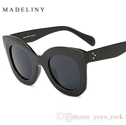 8871a08099a1 MADELINY New Fashion Cat Eye Sunglasses Women Brand Designer Vintage ...