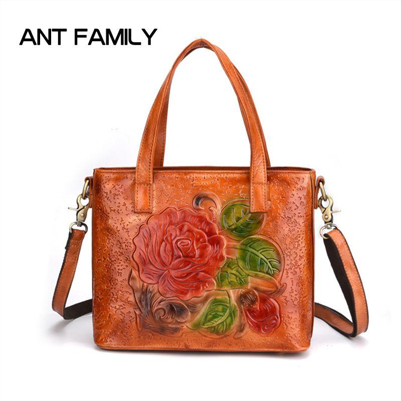 6829932544d5 Luxury Brands Bags Genuine Leather Womens Handbags Large Capacity Vintage  Shoulder Bags Ladies Fashion Tote Real Leather Handbag