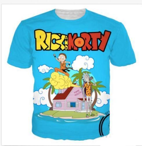 5121e0dc 2018 Rick And Morty T Shirt Dragon Ball Z Cross Shirt Kame House Clothing  Clothes US11 Humorous T Shirts T Shirts Funny From Fjb272211689, $8.69|  DHgate.Com