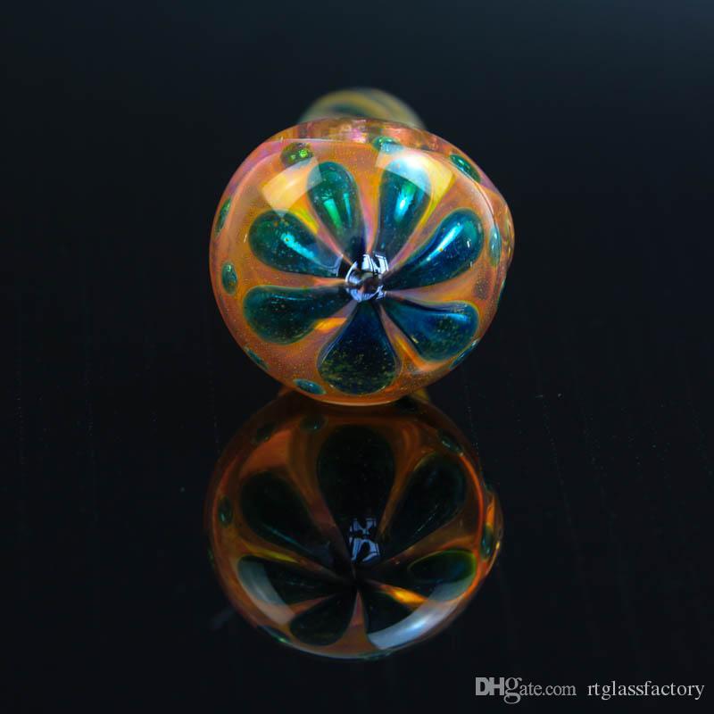Renkli parlak şerit el cam sigara boruları 9.5 cm yaprakları desen kaşık şekli