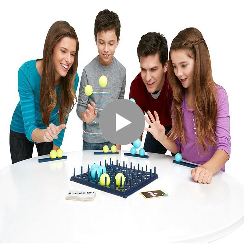 Bounce off Board Game Party Family Children Off Bounce Fun Competition Head Jumping Balls Novelty Funny Interactive Toys