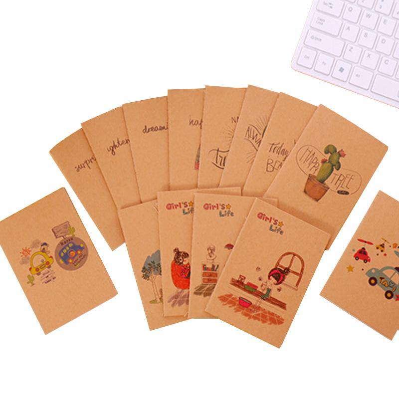 Compre 40 Libros Lote Kawaii Kraft Mini Cuaderno De Dibujos