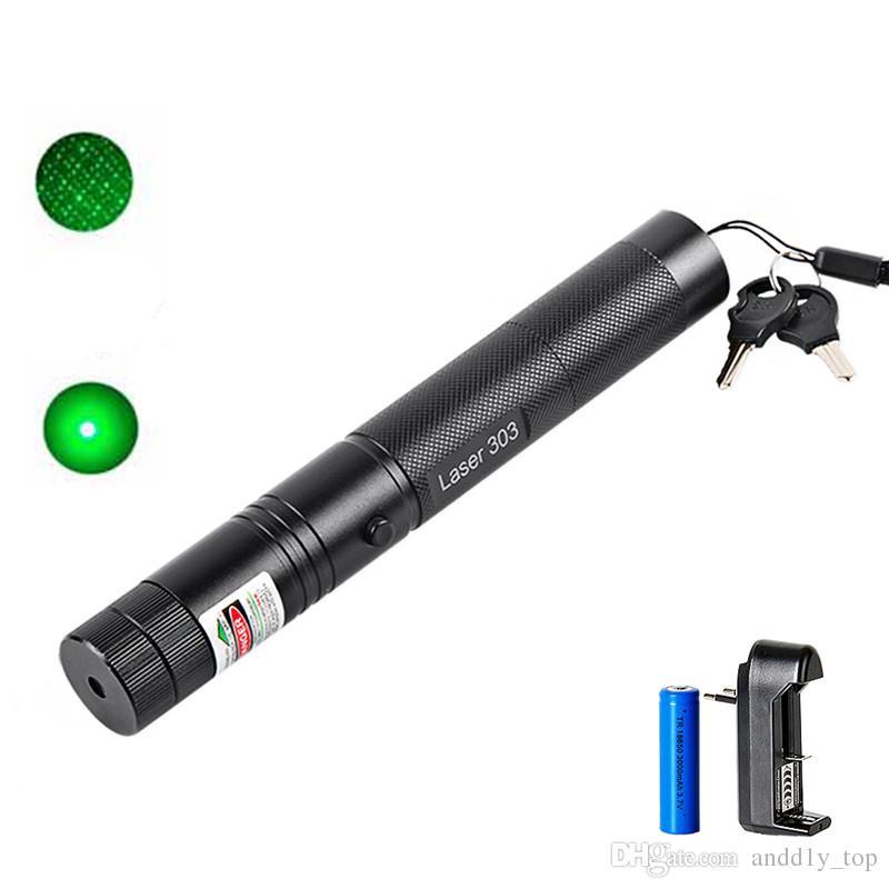 532nm professionnel puissant 301 pointeur laser vert stylo 303 pointeur laser vert stylo lumière laser avec 18650