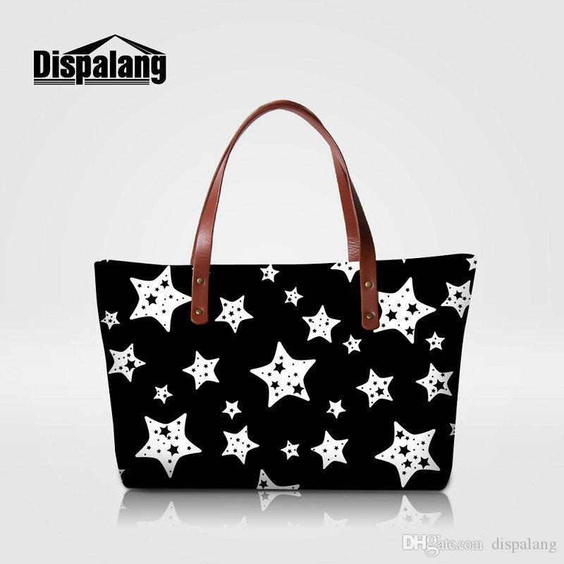 2d4c4c21c554 Star Design Female Daily Use Shopping Bag High Quality Neoprene Women Tote  Bags Ladies Wedding Handbags Girls Fashion Top Handle Bags Beach Messenger  Bags ...
