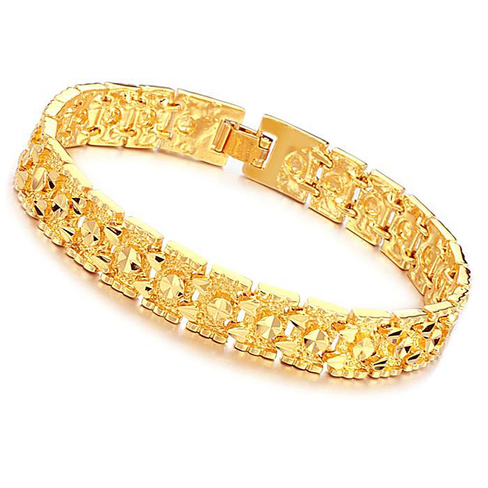 Wedding bride accessories wholesale 18 k shiny gold plating and honor Man's love bracelet wholesale KS160