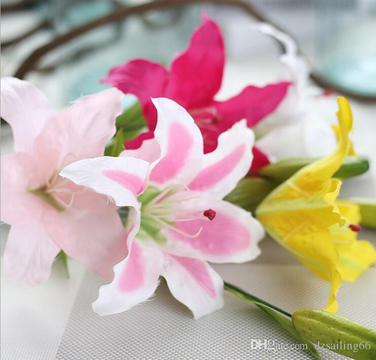Discount single lily flower factory direct artificial silk flowers discount single lily flower factory direct artificial silk flowers for wedding party centerpieces home holiday decoration y 302 from china dhgate mightylinksfo