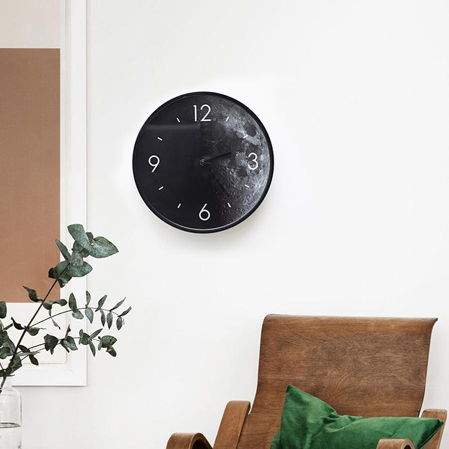Art Creative Simple Mute Circular Living Room Wall Clock Watch ...