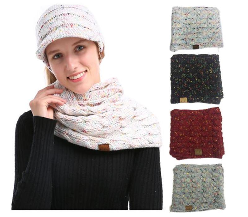 Großhandel Frauen Cc Strickschal Winter Woolen Strick Hals Ring