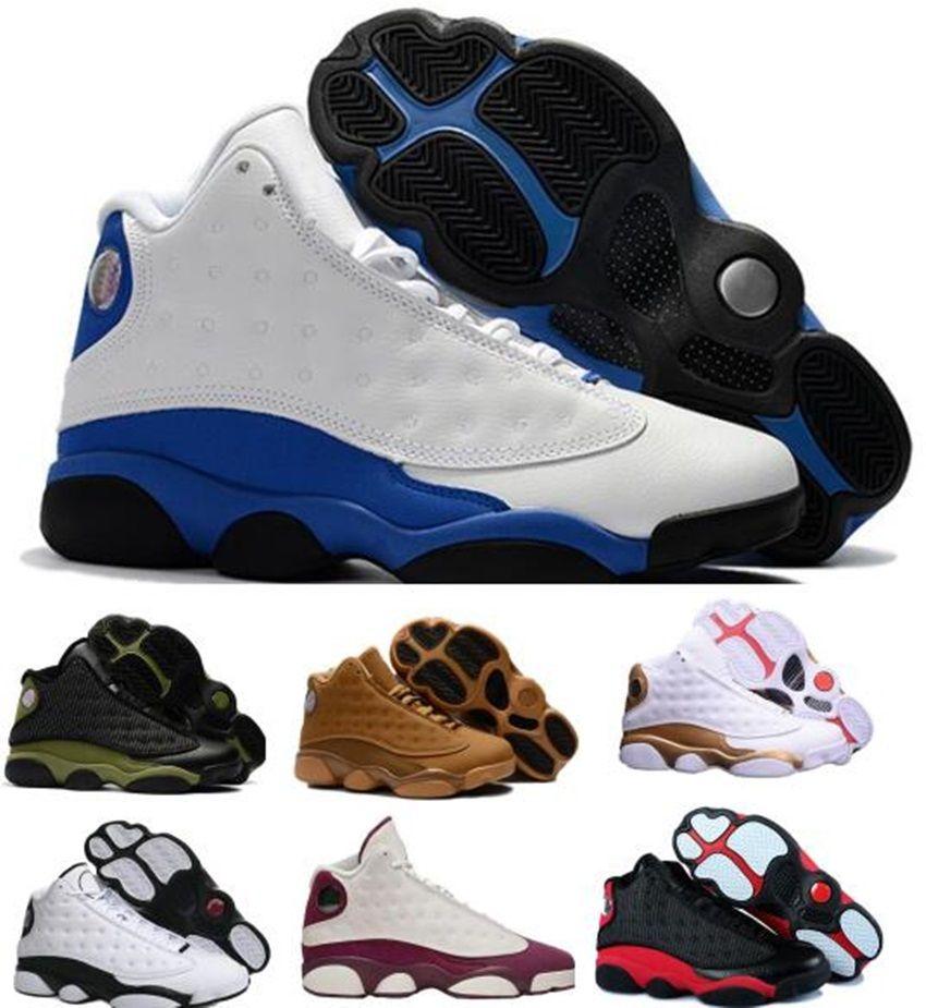 official photos f8f7d 45d28 Großhandel Nike Air Jordan 13 Aj13 Retro Mens Designer 2018 13 Basketball  Schuhe Italien Blau Hyper Royal Schwarz Katze Olive Herren 13s Sport  Trainer Höhe ...