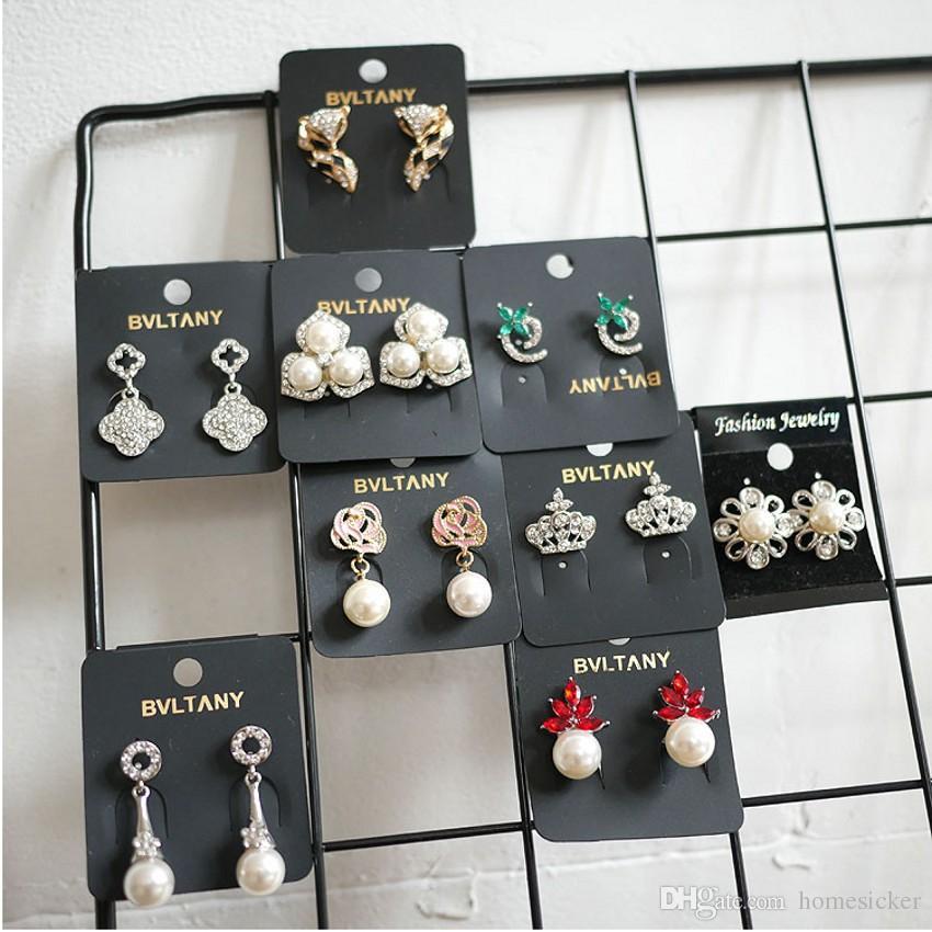 Shamballa كريستال الكرة جهين مربط القرط الكبيرة والصغيرة اثنين من اللؤلؤ والمجوهرات النساء أزياء القرط ترصيع