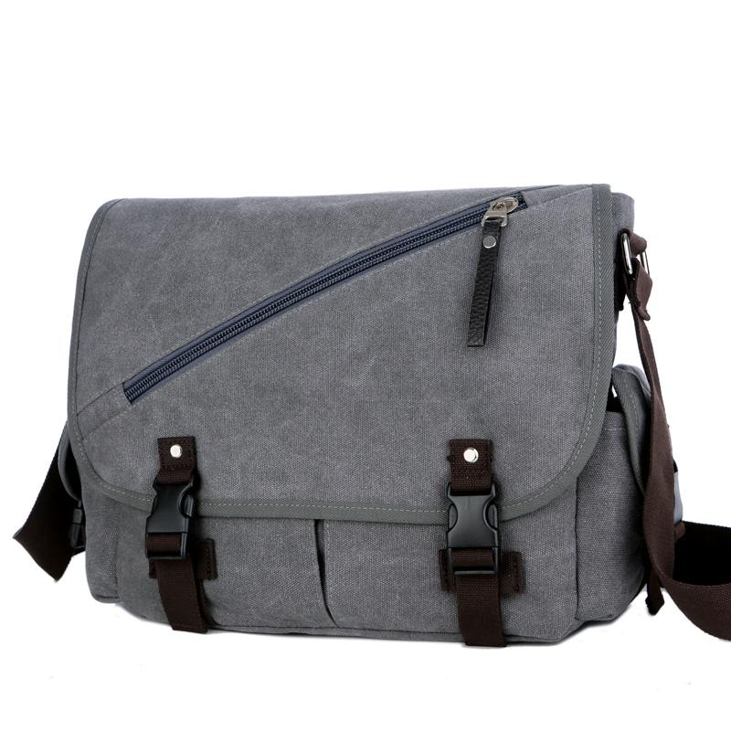 89afc89fb Vintage Men's Messenger Bags Big Capacity Canvas Shoulder Bag Casual Men  Business Book Crossbody Bag Travel Handbag