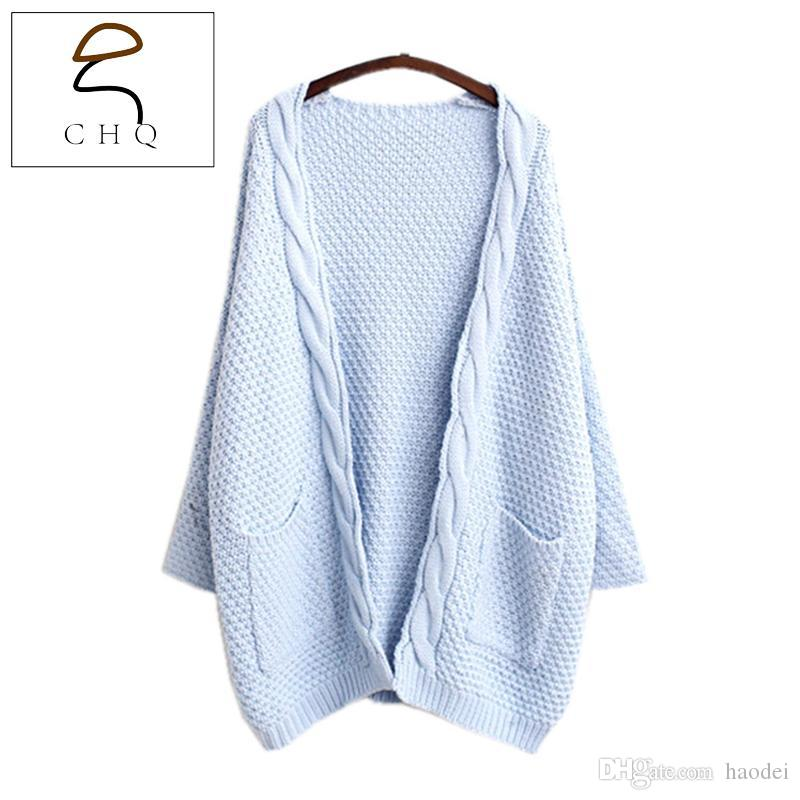 7c80847a9726 2019 Wholesale Women Cardigans Special Offer 2016 Fashion New 3 Solid Colors  Women Knit Long Sleeve Sweater Female Cardigan Knitted Sweaters From  Haodei