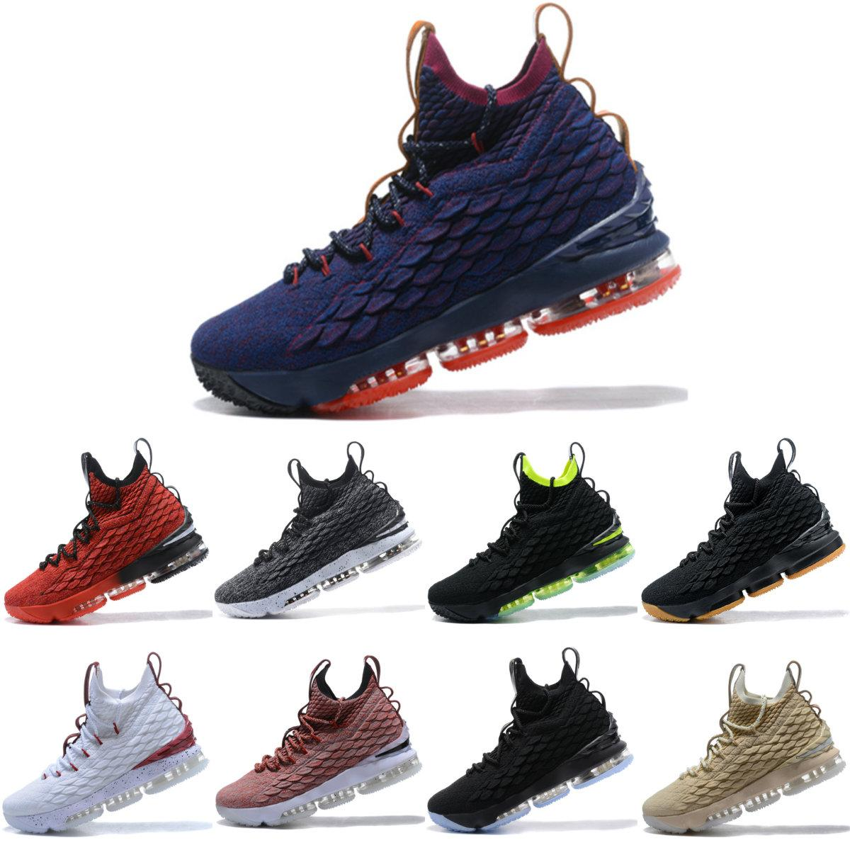 c35c5c44dd80 Youth Lebron 15 City Edition 15s Basketball Shoes James 15 Men Running  Sports Shoes White Black Size US7 US12 Whith Box Best Sneakers For Kids  Running ...