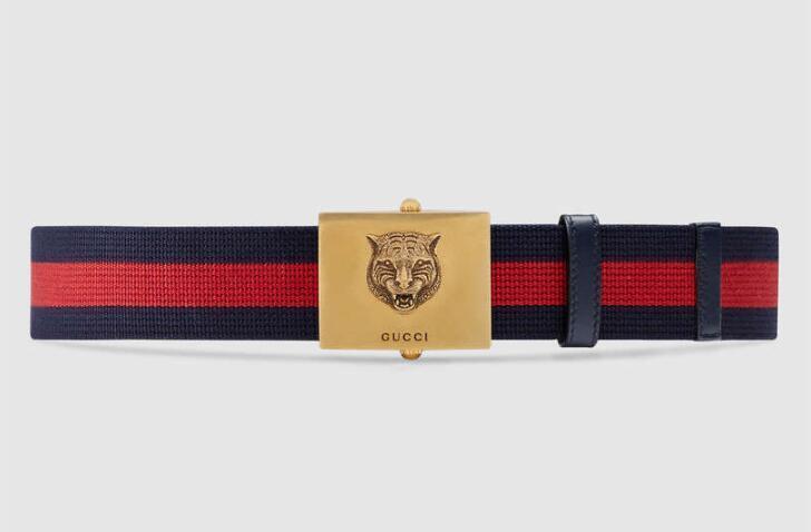 d76c82f1926 2019 G Buckle Belt Blooms Snake Bee Dragon Tiger Head Feline Real Calfskin  Embroidered Web Belt Style 437498 Safety Belt Red Belt From Dongshengsm