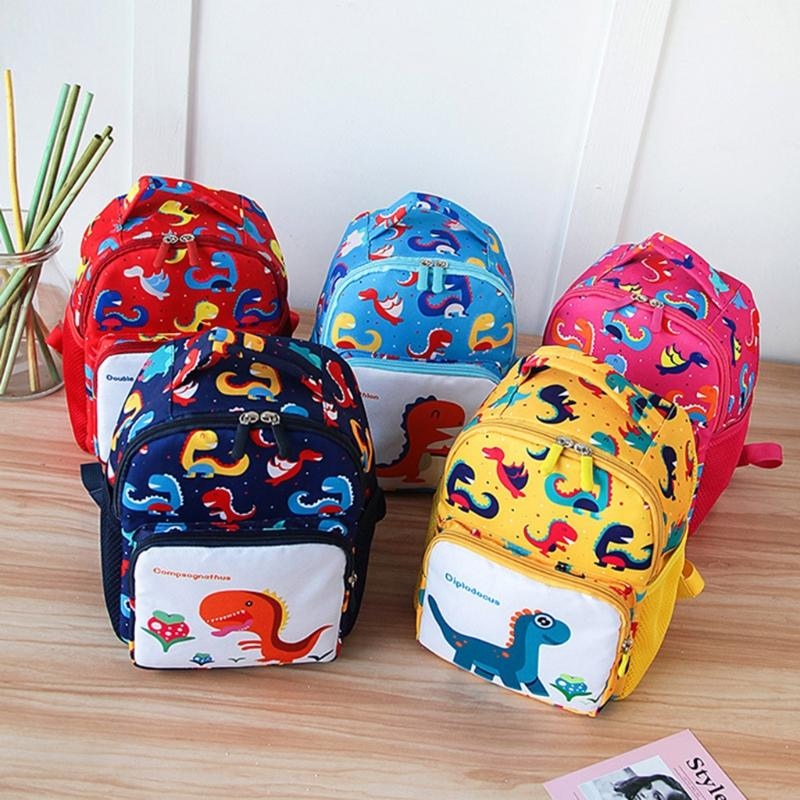 14dbc7a3b0a6 Toddler Backpack Anti Lost Band Kids Children Cartoon Dinosaur Print School  Bag Cheap Bags Shoulder Bags For Women From Galaxyy