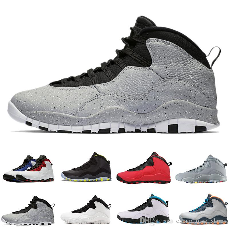 a90a6ce62f49f3 Cement 10 Westbrook 10s I M Back White Black Cool Grey Bobcats Chicago  Steel Grey Men Basketball Shoes 10 Sneakers Size 41 47 Tennis Shoes Shoes  Sale From ...