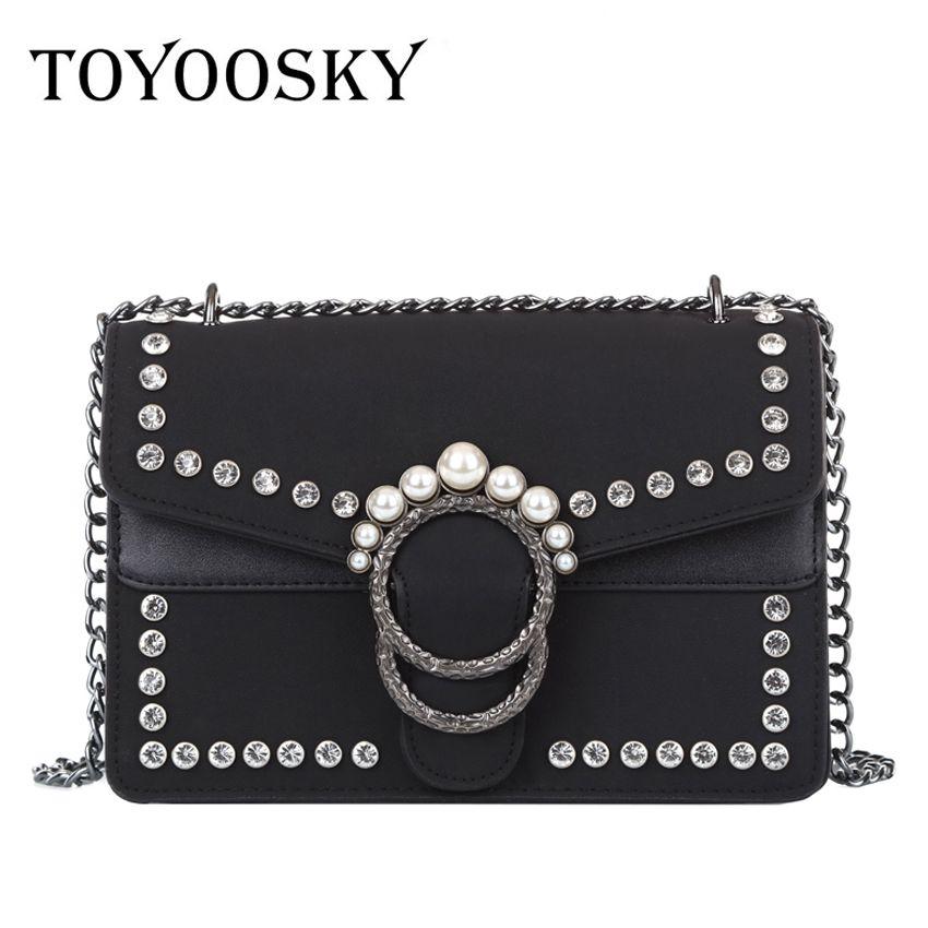 faef95a5655d TOYOOSKY Famous Brand Retro Crossbody Bag Small Women Shoulder Bag ...