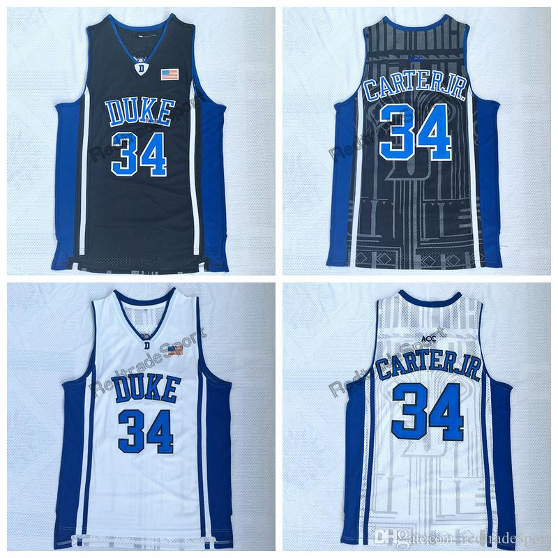 new products c5073 d7261 Mens Vintage Duke Blue Devils 34 Wendell Carter Jr. College Basketball  Jersey Cheap Wendell Carter Jr. Stitched Basketball Shirts