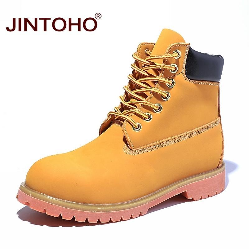 8b8ec194d9bb ... Jintoho Hohe Qualität Männer Winter Schuhe Aus Echtem Leder Männlichen  Schuhe Mode Männer Lederstiefel Arbeitssicherheit Winter Männlichen Stiefel  Von ...