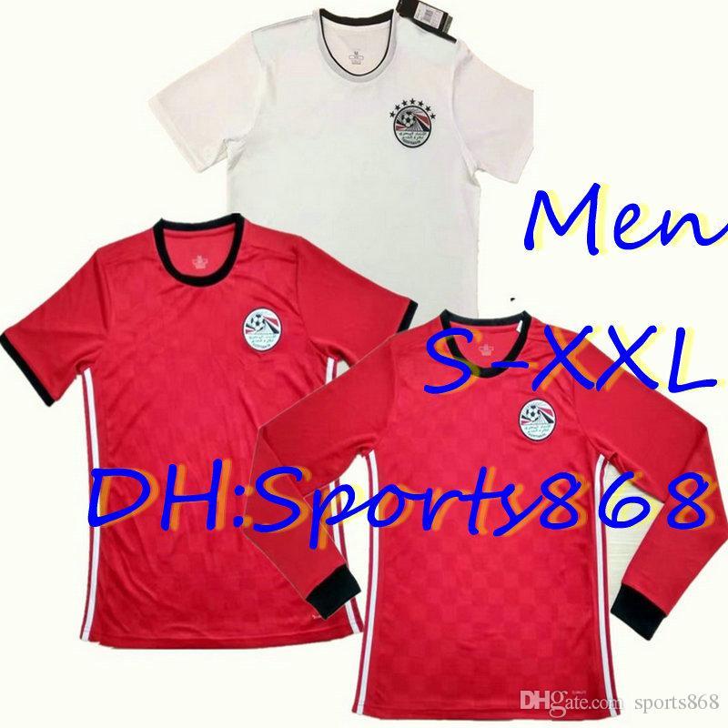 dfc78d95367 Online Cheap Top Thai Quality 2018 Egypt Home Soccer Jersey World Cup  A.Hegazi M.Salah Kahraba Ramadan M.Elneny Away Football Shirt S M L Xl Xxl  By ...