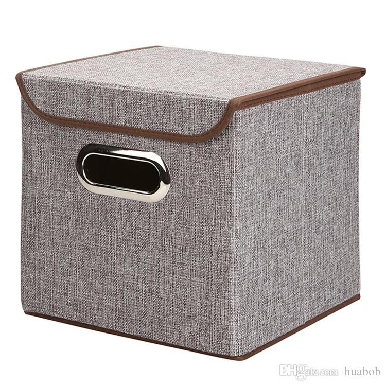 Best New Fabric Folding Clothes Storage Box For Socks Underwear Ties Bra  Cosmetics Kid Toys Storage Box Clothing Bin Under $20.1 | Dhgate.Com
