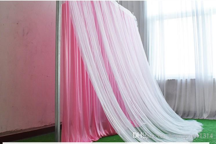 Ice Silk Fabric and sash Backdrop Curtain For Wedding Decoration Backdrop Photography Vintage Castle Indoor Staircase Photo Background decor