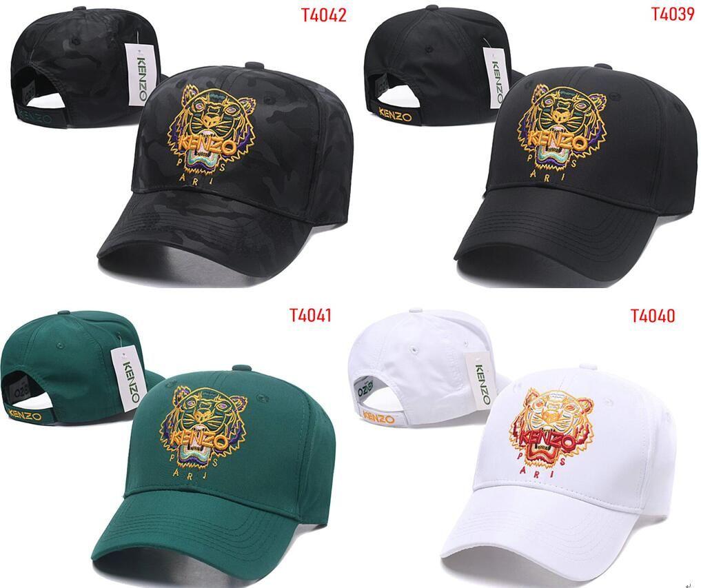 05d00f437 2019 Designer Mens Baseball Caps New Brand KENZ Tiger Head Hats Gold  Embroidered bone Women casquette Sun Hat gorras Sports Cap Drop Ship 03
