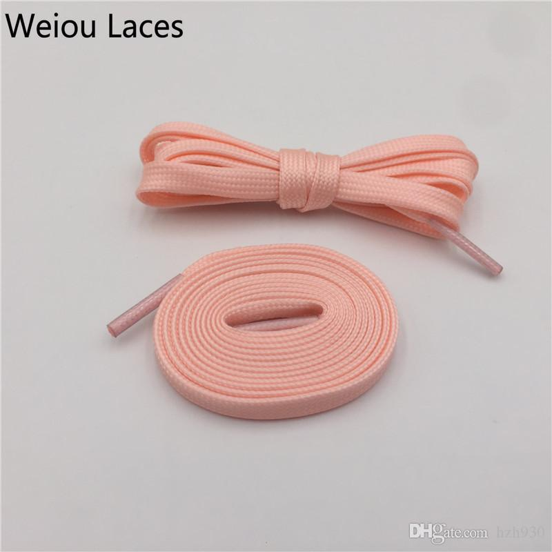 Weiou Luxury Flat Polyester Shiny Glow In The Dark Shoe Laces High Quality Luminous Colorful Bootlace For Sport Shoes Decorations in 140cm