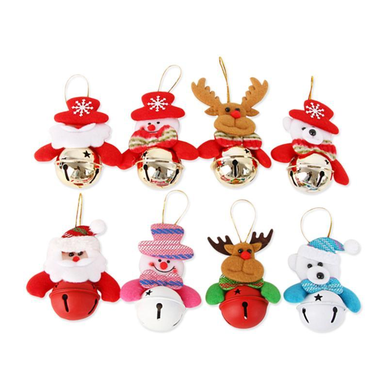 Merry Christmas Gift Tags.6pc Christmas Gift Tags Bell Old Man Merry Christmas Doll Party Hanging Festival Tree Bell Pendants With Strings