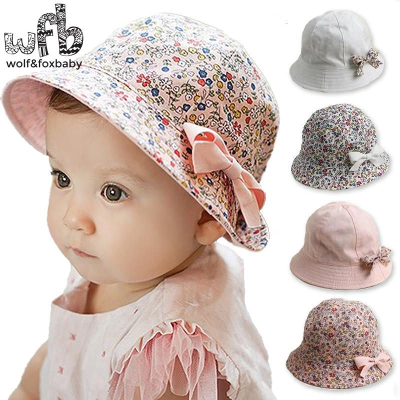 e8b32e84560 2019 Retail 6 48 Months Sunbonnet Sun Hats Two Sided Fisherman 50CM Caps  Touca Baby Children Infant S Kids Spring Summer Fall From Fkansis