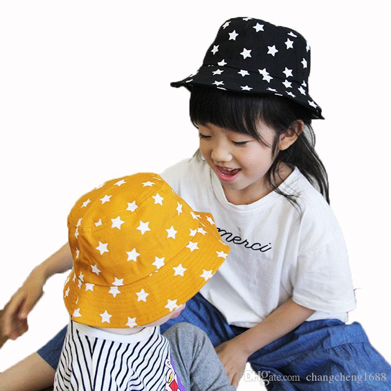 2019 Child Bucket Hat Flat Start Print Cotton Unisex Fisherman Cap Outdoor  MZ6053 Spring Beach Hat Boys Girls Kids Summer Child Cap Hat From  Changcheng1688 f03822e0ea46