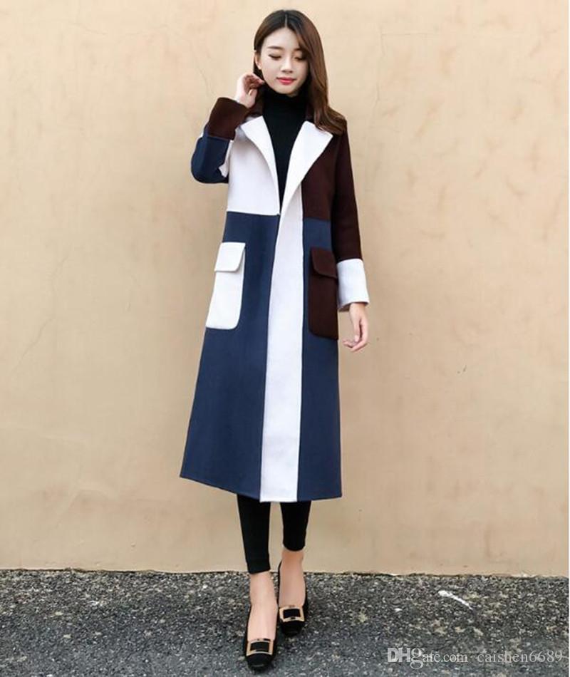 ea6e892433 2019 High Grade Women Clothing Autumn Winter New Fashion Woolen Overcoat  Multicolor Medium Style Slim Windbreaker Woolen Coats Women Overcoat From  ...