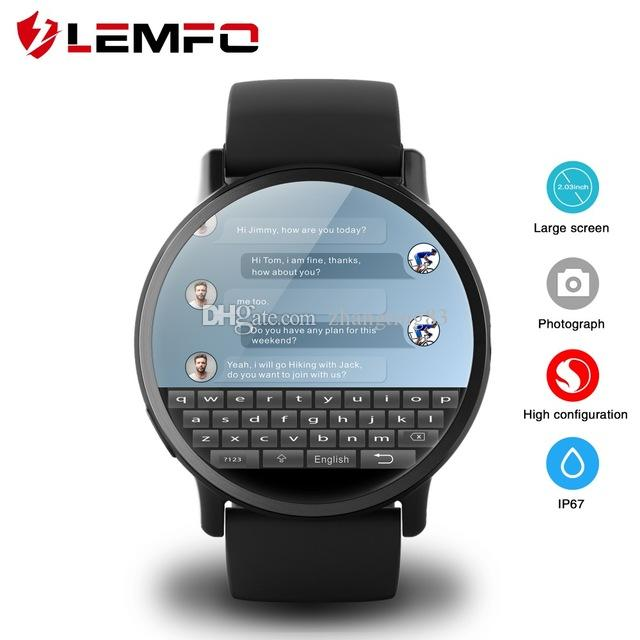 Reloj Telefono Movil LEMFO LEM X 4G Reloj Inteligente Android 7.1 Con 8MP  Cámara GPS 2.03 Pulgadas De Pantalla Con Correa De Deporte De Negocios  Oferta ... 4542a6eb24a7
