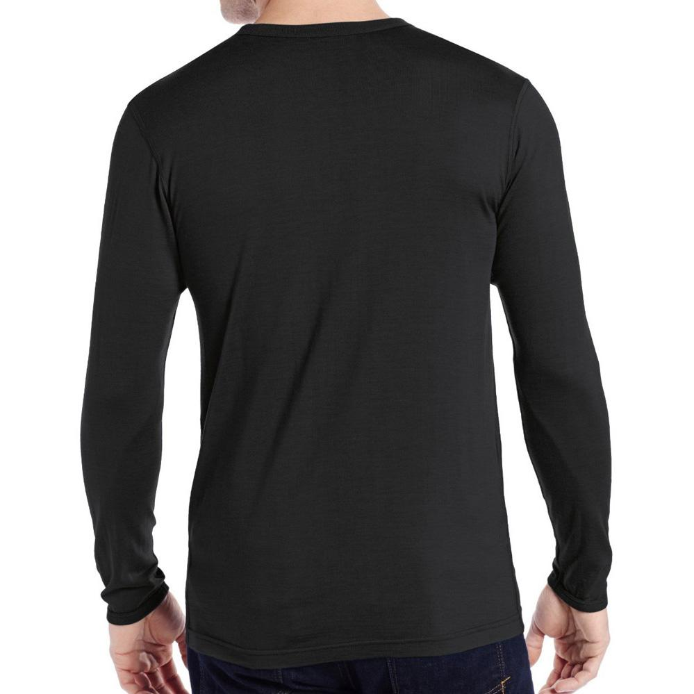 Men's 100% Pure Merino Wool Male Lightweight Base Layer Long Sleeves Warm Winter Spring Breathable Shirt Thermal Underwear Tops