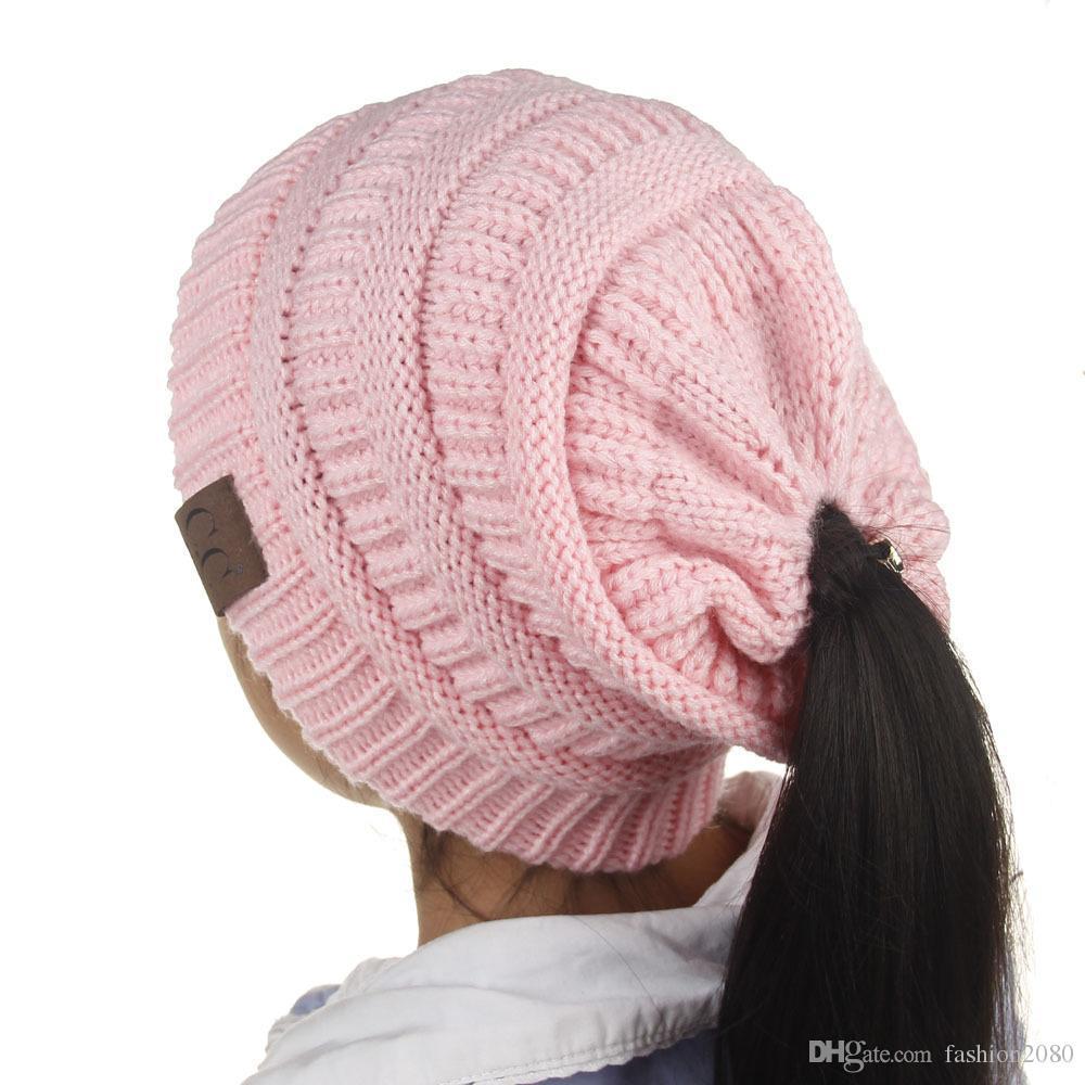 f966baf590b1b 2019 2018 Kids CC Beanies Winter Knitting Hat For Children Warm Cap Girls Slouchy  Beanie Caps Boys Cute Knitted Hats Casual Cap 2~8Y From Fashion2080