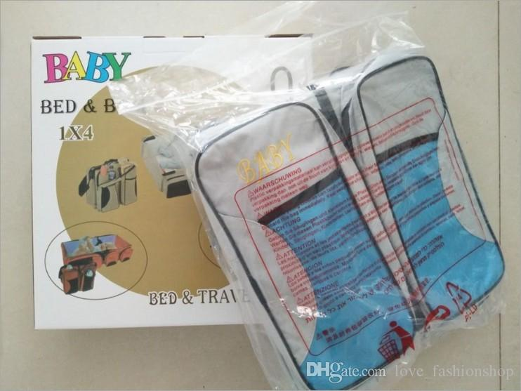 Retail Portable Folding Baby Bett Tasche Multifunktions-große Mami-Taschen im Freien Hand Reisebett Säuglingssicherheit Tasche Windeln Windeln Tote