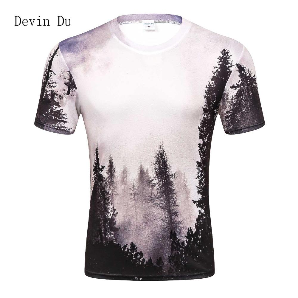 8cbf79c2132b 2017 New Arrivals Mens 3d T Shirt Print Winter Forest Trees Quick Dry  Summer Tops Tees Brand Tshirts Plus Size Cool Shirt Design Tshirts Printed  From Moussy ...