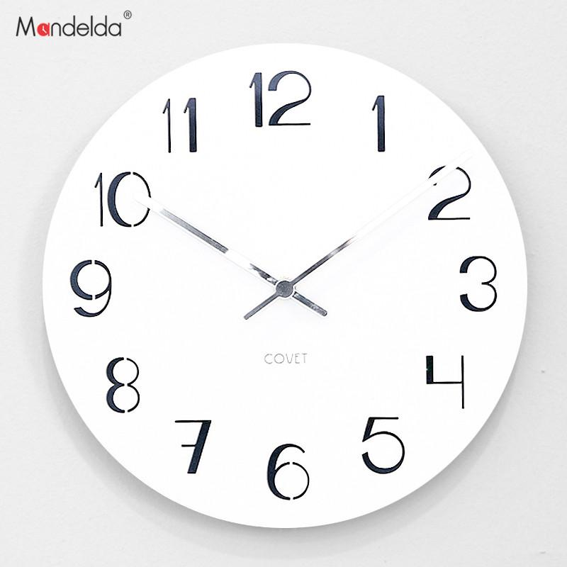 Mandelda Wall Clock Living Room Modern Simple Watch Clock Bedroom ...
