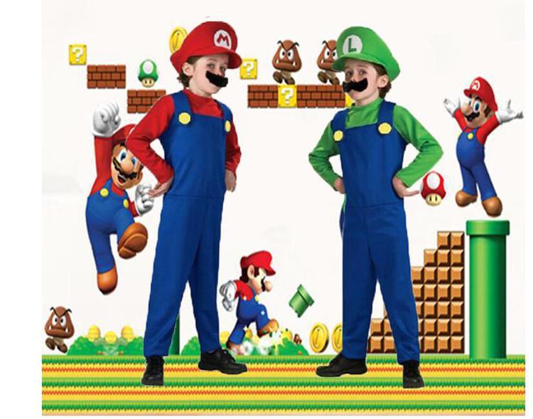 Compre Disfraces De Halloween Cosplay Super Mario Luigi Brothers Fiesta De  Disfraces Disfraces Lindos Para Niños 2 Tamaño De Color S XL A  6.6 Del ... 46f07e372f6