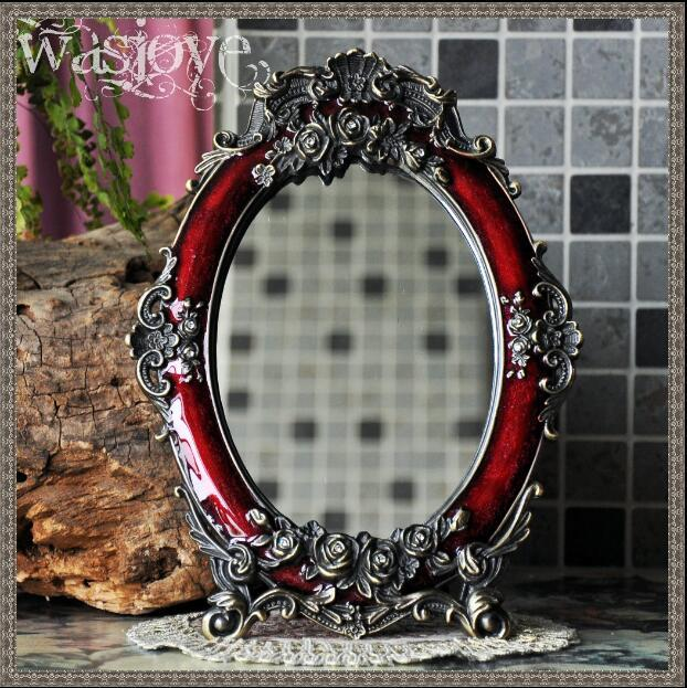 Red/white Engraved With Frames Retro Table Mirror Vanity Mirror For Vanity  Table Makeup For Home Decoration J022 Decorative Mirrors Cheap Decorative  Mirrors ...